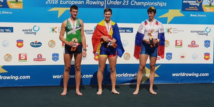 Sidabras ir bronza iš Europos jaunimo irklavimo čempionato Breste!