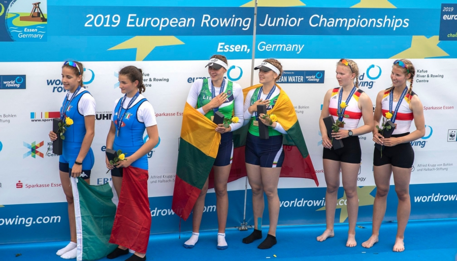 Auksas iš Europos jaunių irklavimo čempionato