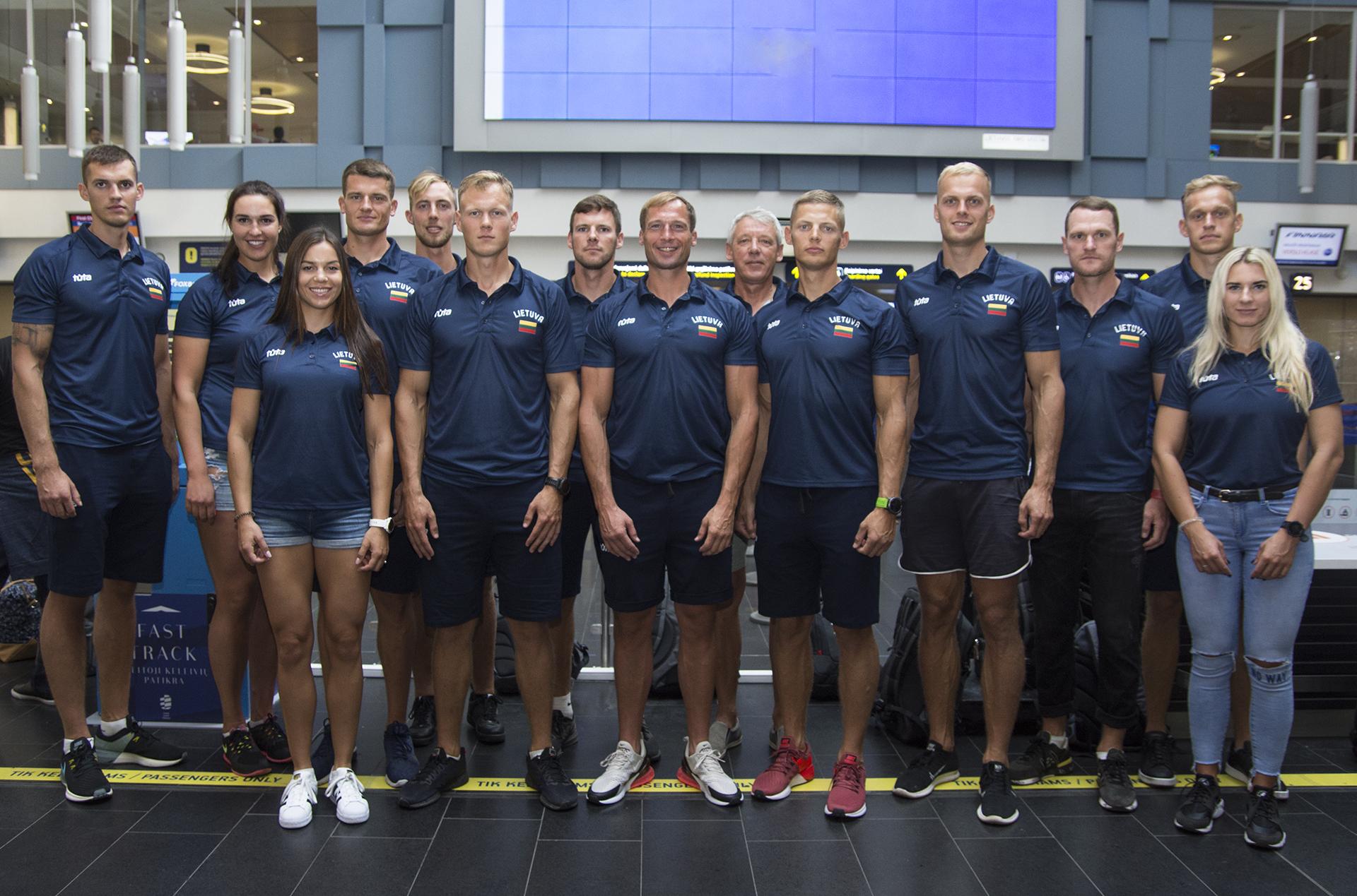 Lietuvos irklavimo rinktinė išvyko į pasaulio čempionatą