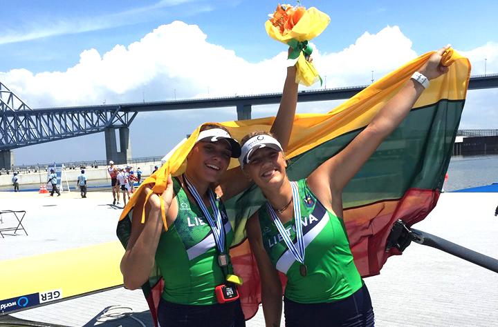 Pasaulio čempionate U. Juzėnaitė ir D. Rimkutė iškovojo bronzos medalius